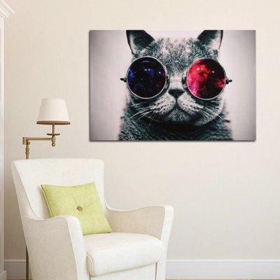 Glasses Cat Decor Picture Artwork Wall Art Painting Print