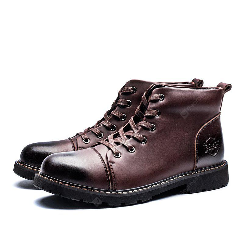 British Style Classic Wax Male Martin Boots