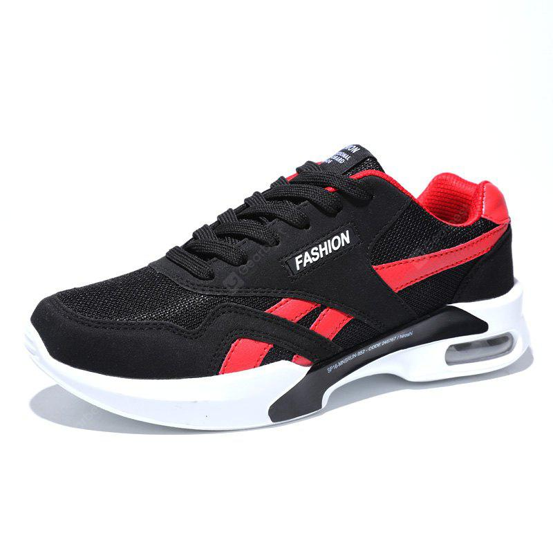 BLACK RED 40 Breathable Mesh Air-cushion Athletic Shoes for Men