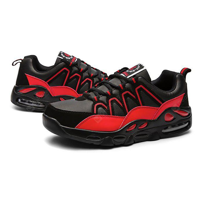 BLACK RED 45 Male Outdoor Air Cushion Soft Breathable Athletic Shoes