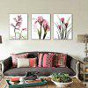 3PCS Colourful Flower Printed Painting Canvas Print - COLORMIX