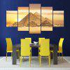 5PCS YSDAFEN Pyramid Printing Canvas Wall Decoration Print - COLORMIX