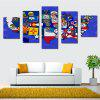 448008 5PCS Creative American Map Canvas Print - COLORMIX