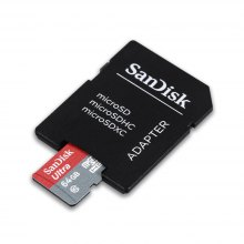 SanDisk 64GB Micro SD Card with Card Adapter Set