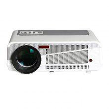 HTP LED - 86+ 1280 x 800 Pixels 3600 Lumens Home Theater LED Projector Support 2 x HDMI 2 x USB Input - WHITE