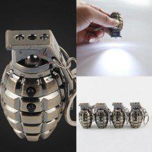 Metal Key Chain Simulation Grenade Laser Detector LED Flashlight