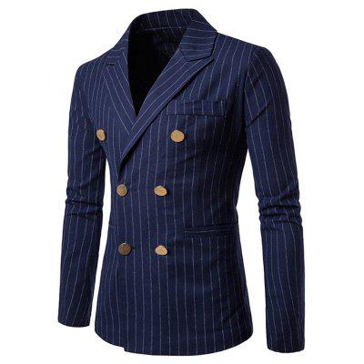 Business Slim Fit Double-breasted Blazer Jacket