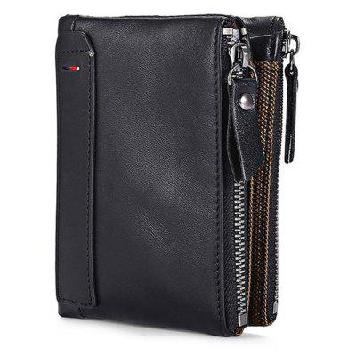 FRID Protection Leather Men Wallet