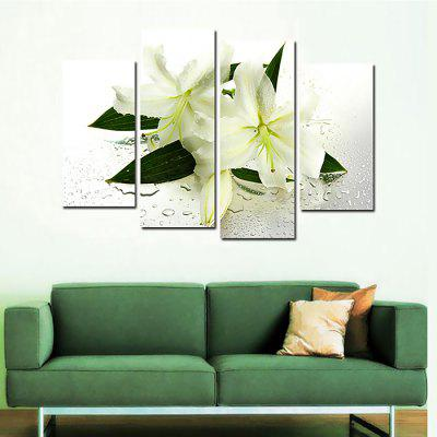 4PCS Lily Flower Printed Painting Canvas PrintPrints<br>4PCS Lily Flower Printed Painting Canvas Print<br><br>Craft: Print<br>Form: Four Panels<br>Material: Canvas<br>Package Contents: 4 x Print<br>Package size (L x W x H): 37.00 x 4.00 x 4.00 cm / 14.57 x 1.57 x 1.57 inches<br>Package weight: 0.2610 kg<br>Painting: Without Inner Frame<br>Product weight: 0.2560 kg<br>Shape: Horizontal Panoramic<br>Style: Flower<br>Subjects: Botanical<br>Suitable Space: Bedroom,Hotel,Living Room,Office