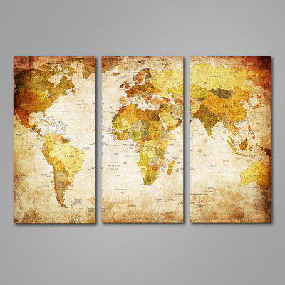 3pcs world map printed painting canvas print 1099 online 3pcs world map printed painting canvas print gumiabroncs Gallery