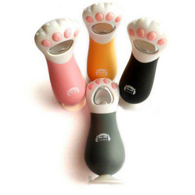 1PC Portable Cartoon Style Cat Claw Shaped Bottle Opener