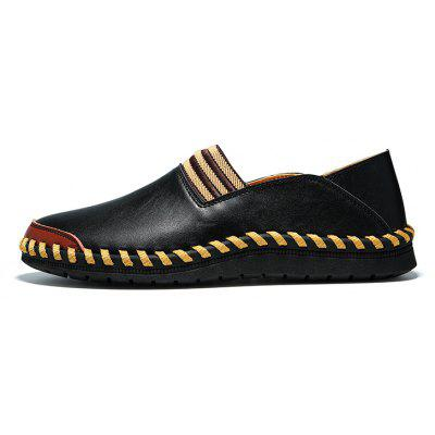 Male Elastic Strap Slip-on Split Joint Oxford ShoesMen's Oxford<br>Male Elastic Strap Slip-on Split Joint Oxford Shoes<br><br>Closure Type: Slip-On<br>Contents: 1 x Pair of Shoes<br>Decoration: Split Joint<br>Materials: MD, Leather<br>Occasion: Office, Holiday, Daily, Casual<br>Outsole Material: MD<br>Package Size ( L x W x H ): 33.00 x 24.00 x 13.00 cm / 12.99 x 9.45 x 5.12 inches<br>Seasons: Autumn,Spring<br>Style: Modern, Fashion, Comfortable, Casual<br>Toe Shape: Round Toe<br>Type: Casual Leather Shoes<br>Upper Material: Leather