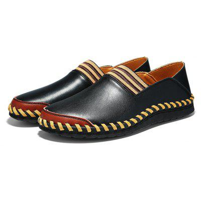 Male Elastic Strap Slip-on Split Joint Oxford Shoes