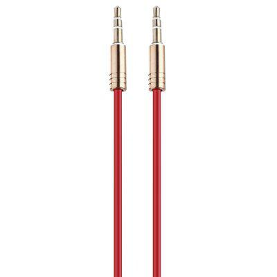 Buy RED 3.5mm Male to Male Gold-plated Spring Audio Cable 0.5m for $1.44 in GearBest store