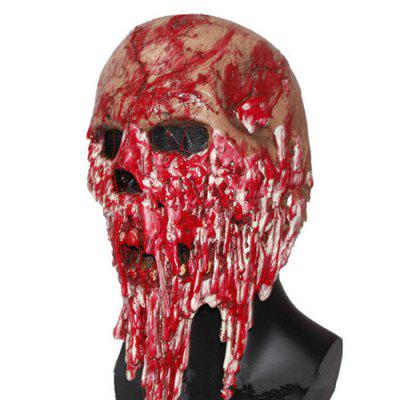 Buy RED Halloween Latex Horrible Bloody Full Head Mask for $32.75 in GearBest store