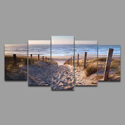 5PCS Beach Pattern Home Decoration Canvas PaintingPrints<br>5PCS Beach Pattern Home Decoration Canvas Painting<br><br>Craft: Print<br>Form: Five Panels<br>Material: Canvas<br>Package Contents: 5 x Print<br>Package size (L x W x H): 27.00 x 4.00 x 4.00 cm / 10.63 x 1.57 x 1.57 inches<br>Package weight: 0.2200 kg<br>Painting: Without Inner Frame<br>Product weight: 0.1990 kg<br>Shape: Horizontal Panoramic<br>Style: Landscape, Beach Style<br>Subjects: Landscape<br>Suitable Space: Bedroom,Cafes,Corridor,Dining Room,Hallway,Hotel,Living Room,Office,Study Room / Office