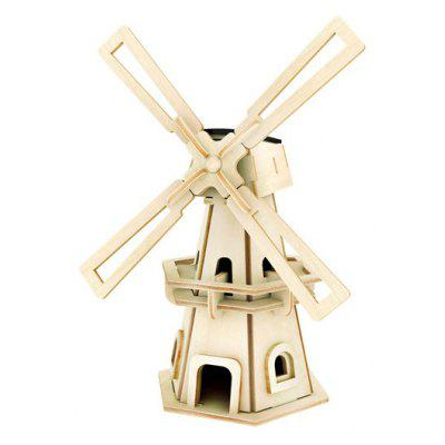 Solar Windmill W110 Jigsaw Puzzle Building Blocks Environmental DIY Toy