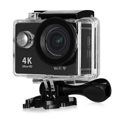H9R 170 Degree Wide Angle 4K Ultra HD WiFi Action CameraAction Cameras<br>H9R 170 Degree Wide Angle 4K Ultra HD WiFi Action Camera<br><br>Aerial Photography: No<br>Anti-shake: Yes<br>Application: Ski<br>Auto Focusing: No<br>Battery Type: Removable<br>Camera Timer: Yes<br>Capacity: 1050mAh<br>Charge way: USB charge by PC<br>Chipset: Sunplus 6350<br>Chipset Name: Sunplus<br>Class Rating Requirements: Class 10 or Above<br>Decode Format: H.264<br>Exposure Compensation: +0.3,+0.7,+1,+1.3,+1.7,+2,-0.3,-0.7,-1,-1.3,-1.7,-2,0<br>Features: Wireless<br>Frequency: 50Hz,60Hz,Auto<br>Function: Loop-cycle Recording, Remote Control, Camera Timer, Anti-Shake<br>Image Format: JPG<br>Interface Type: Micro USB, Micro HDMI<br>Language: Cesky,Dutch,English,French,German,Italian,Japanese,Korean,Polski,Portuguese,Russian,Spanish,Thai,Traditional Chinese,Turkish<br>Loop-cycle Recording: Yes<br>Max External Card Supported: TF 32G (not included)<br>Microphone: Built-in<br>Model: H9R<br>Night vision: No<br>Package Contents: 1 x H9R 4K Action Camera + Waterproof Housing Case + Base + Long Screw, 1 x 2.4G Remote Controller, 1 x Power Adapter, 1 x USB Cable, 1 x Frame, 1 x Bike Handlebar Holder, 1 x Waterproof Housing Case<br>Package size (L x W x H): 28.50 x 18.00 x 8.00 cm / 11.22 x 7.09 x 3.15 inches<br>Package weight: 0.6100 kg<br>Product size (L x W x H): 5.90 x 4.10 x 3.00 cm / 2.32 x 1.61 x 1.18 inches<br>Product weight: 0.0660 kg<br>Screen: With Screen<br>Screen resolution: 320x240<br>Screen size: 2.0inch<br>Screen type: LCD<br>Time lapse: Yes<br>Time Stamp: Yes<br>Type: Sports Camera<br>USB Function: USB-Disk<br>Video format: MOV<br>Video Output: HDMI<br>Video Resolution: 1080P (1920 x 1080),2.7K (2704 x 1524),4K (3840 x 2160)<br>Video System: PAL<br>Water Resistant: 30m<br>Waterproof: Yes<br>Wide Angle: 170 degree wide angle<br>WIFI: Yes<br>WiFi Distance: 30m<br>WiFi Function: Image Transmission,Sync and Sharing Albums<br>Working Time: 1.5 hour at 1080P 30fps, 40min at 4K 25fps