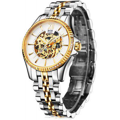 BOS 9010G Hollow-out Dial Male Automatic Mechanical Watch