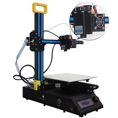 Creality3D CR - 8 2 in 1 Laser Engraving 3D Printer3D Printers, 3D Printer Kits<br>Creality3D CR - 8 2 in 1 Laser Engraving 3D Printer<br><br>Brand: Creality3D<br>File format: STL, OBJ, G-code<br>Host computer software: Cura,Repetier-Host<br>Layer thickness: 0.1-0.4mm<br>LCD Screen: Yes<br>Material diameter: 1.75mm<br>Memory card offline print: TF card<br>Model: CR - 8<br>Model supporting function: Yes<br>Nozzle diameter: 0.4mm<br>Nozzle temperature: Room temperature to 250 degree<br>Package size: 42.00 x 50.00 x 22.00 cm / 16.54 x 19.69 x 8.66 inches<br>Package weight: 9.4200 kg<br>Packing Type: unassembled packing<br>Print speed: Less than or Equal to 150mm/s; Max. up to 250mm/s<br>Product forming size: 210 x 210 x 210mm<br>Product size: 38.00 x 43.00 x 49.50 cm / 14.96 x 16.93 x 19.49 inches<br>Product weight: 6.0000 kg<br>Supporting material: PLA, ABS<br>Type: Complete Machine<br>XY-axis positioning accuracy: 0.012mm
