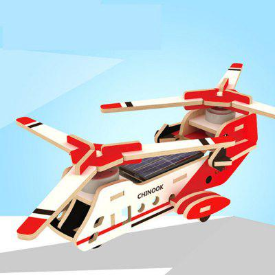 Solar Military Transport Plane Baron P320 Jigsaw Puzzle Building Blocks Environmental DIY Toy