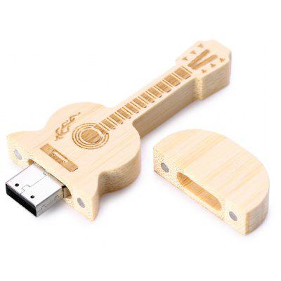 Wood Guitar Style 8GB USB 2.0 Flash Drive Memory Stick U Disk