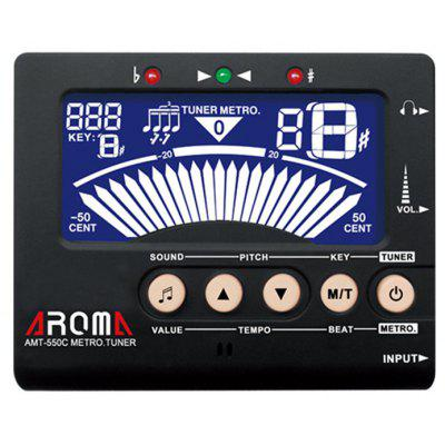 AROMA AMT - 550C 3 in 1 Big Screen Metronome Tuner 30 - 260bpm and Tone Generator Support Woodwind