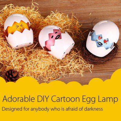 Touch Sensor DIY LED Night Light Egg Lamp with Cartoon StickerNovelty lighting<br>Touch Sensor DIY LED Night Light Egg Lamp with Cartoon Sticker<br><br>Battery Type: 3 x AAA battery (not included)<br>Feature: Touch Vibration<br>Input Voltage: DC 5V<br>Material: ABS<br>Optional Color: Blue,Pink,Yellow<br>Optional Light Color: White<br>Package Contents: 1 x Egg Lamp, 1 x USB Cable, 1 x Sticker, 1 x English Manual<br>Package size (L x W x H): 14.00 x 10.00 x 10.00 cm / 5.51 x 3.94 x 3.94 inches<br>Package weight: 0.2430 kg<br>Power Supply: Battery,USB<br>Product size (L x W x H): 13.00 x 7.50 x 7.50 cm / 5.12 x 2.95 x 2.95 inches<br>Product weight: 0.1600 kg<br>Type: Night Light