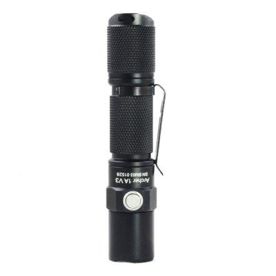 ThruNite Archer 1A V3 LED FlashlightLED Flashlights<br>ThruNite Archer 1A V3 LED Flashlight<br><br>Available Light Color: Natural White,White<br>Battery Quantity: 1 x AA / 14500 battery (not included)<br>Battery Type: AA, 14500<br>Beam Distance: 50-100m<br>Brand: ThruNite<br>Color Temperature: 5500-6500K, 4500-5500K<br>Emitters: Cree XP-L V6<br>Emitters Quantity: 1<br>Feature: Titanium Alloy Pocket Clip, Reverse Polarity Protection, Lightweight, Cooling Slot of High Efficiency, Anti-Roll Rugged Design<br>Flashlight Processing Technology: Aerospace Grade Aluminum Body with Anti Scratching Type 2 Hard Anodization<br>Function: Walking, Night Riding, Household Use, Hiking, EDC, Camping<br>Impact Resistance: 1.5M<br>LED Lifespan: 20 years<br>Lens: Toughened Ultra-clear Glass Lens with Anti-reflective Coating<br>Lumens Range: 1-200Lumens<br>Luminous Flux: 200Lm<br>Luminous Intensity: 1088cd<br>Max.: 17 days<br>Mode: 5 (High; Mid; Low; Moonlight; Strobe)<br>Mode Memory: Yes<br>Package Contents: 1 x ThruNite Archer 1A V3 LED Flashlight, 1 x O-ring, 1 x Clip<br>Package size (L x W x H): 15.00 x 6.00 x 5.00 cm / 5.91 x 2.36 x 1.97 inches<br>Package weight: 0.090 kg<br>Power Source: Battery<br>Product size (L x W x H): 11.00 x 2.30 x 2.30 cm / 4.33 x 0.91 x 0.91 inches<br>Product weight: 0.042 kg<br>Reflector: Aluminum Textured Orange Peel Reflector<br>Switch Location: Side Switch,Tail Cap<br>Waterproof Standard: IPX-8 Standard Waterproof (Underwater 1.5m)<br>Working Voltage: 0.9-4.2V