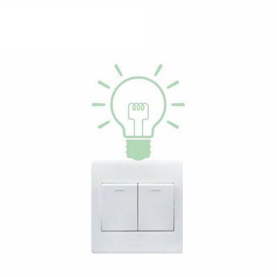 Bulb Style Luminous Switch Sticker