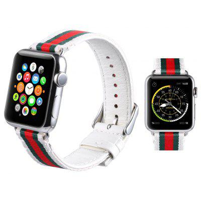 Leisure Colorful Style PU Leather Watchband for Apple Watch 38mm