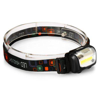 UltraFire LED HeadlightHeadlights<br>UltraFire LED Headlight<br><br>Available Light Color: White<br>Battery Type: 3 x AAA battery(not included)<br>Beam Distance: 50-100m<br>Body Material: ABS<br>Color: Black,Blue,Orange<br>Emitters Quantity: 1<br>Feature: Can be used as headlamp or bicycle light, Angle adjustment<br>Function: Hiking<br>Headlight Brand: Ultrafire<br>Luminous Flux: 4<br>Main Emitters: COB<br>Mode: Flash), 3 (High; Low<br>Package Contents: 1 x UltraFire LED Headlamp<br>Package size (L x W x H): 9.00 x 5.50 x 5.50 cm / 3.54 x 2.17 x 2.17 inches<br>Package weight: 0.082 kg<br>Power Source: Battery<br>Product size (L x W x H): 6.00 x 4.00 x 3.00 cm / 2.36 x 1.57 x 1.18 inches<br>Product weight: 0.051 kg<br>Switch Type: Clicky<br>Type: LED Headlamp<br>Waterproof: IP44 Waterproof Standard