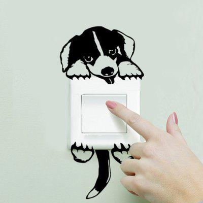 Dog Style Wallpaper Switch Sticker Wall Decoration
