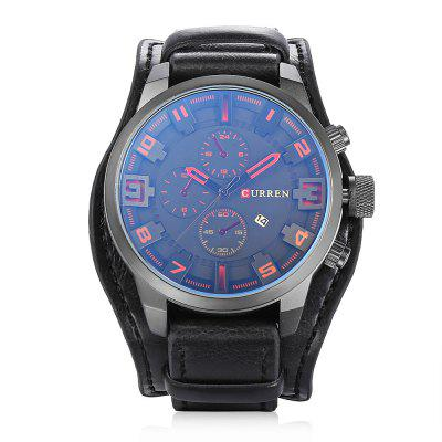 CURREN 8225 Casual Men Quartz WatchMens Watches<br>CURREN 8225 Casual Men Quartz Watch<br><br>Band material: Leather<br>Band size: 27 x 2.2 cm / 10.63 x 0.87 inches<br>Brand: Curren<br>Case material: Stainless Steel<br>Clasp type: Pin buckle<br>Dial size: 5.5 x 5.5 x 1.6 cm / 2.17 x 2.17 x 0.63 inches<br>Display type: Analog<br>Movement type: Quartz watch<br>Package Contents: 1 x CURREN 8225 Casual Men Quartz Watch, 1 x Box<br>Package size (L x W x H): 8.80 x 8.00 x 5.30 cm / 3.46 x 3.15 x 2.09 inches<br>Package weight: 0.1420 kg<br>Product size (L x W x H): 27.00 x 5.50 x 1.60 cm / 10.63 x 2.17 x 0.63 inches<br>Product weight: 0.0820 kg<br>Shape of the dial: Round<br>Special features: Date<br>Watch color: Red, Orange, Yellow, Brown, Black<br>Watch style: Fashion<br>Watches categories: Male table<br>Water resistance: Life water resistant<br>Wearable length: 19.5 - 24.2 cm / 7.68 - 9.53 inches