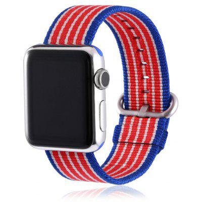 Colorful Bar Pattern Nylon Watchband for Apple Watch 38mm