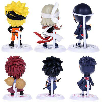 Animation Action Figure PVC + ABS Model - 6pcs / setMovies &amp; TV Action Figures<br>Animation Action Figure PVC + ABS Model - 6pcs / set<br><br>Completeness: Semi-finished Product<br>Features: Small<br>Gender: Unisex<br>Materials: ABS, PVC<br>Package Contents: 6 x Figure Model<br>Package size: 20.00 x 10.00 x 5.50 cm / 7.87 x 3.94 x 2.17 inches<br>Package weight: 0.120 kg<br>Product size: 5.00 x 5.00 x 7.00 cm / 1.97 x 1.97 x 2.76 inches<br>Product weight: 0.100 kg<br>Stem From: Japan<br>Theme: Movie and TV