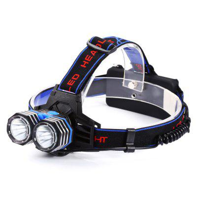 UltraFire Rechargeable LED HeadlampHeadlights<br>UltraFire Rechargeable LED Headlamp<br><br>Available Light Color: Cool White<br>Battery Included or Not: No<br>Battery Quantity: 2 x 18650 or 3 x AAA<br>Battery Type: AAA<br>Beam Distance: 300-400m<br>Body Material: ABS+Aluminum Alloy<br>Color Temperature: 6000-7000K<br>Emitters Quantity: 2<br>Feature: Rechargeable<br>Function: Camping, Hiking, Household Use, Night Riding, Walking, EDC<br>Headlight Brand: Ultrafire<br>Luminous Flux: 1300LM<br>Main Emitters: Cree XM-L T6<br>Mode: 3( High; Low; SOS)<br>Package Contents: 1 x UltraFire LED Headlamp, 1 x Headband, 1 x AAA Battery Holder<br>Package size (L x W x H): 22.00 x 13.00 x 6.00 cm / 8.66 x 5.12 x 2.36 inches<br>Package weight: 0.2800 kg<br>Power: 13W<br>Power Source: Battery<br>Product size (L x W x H): 6.50 x 5.00 x 3.50 cm / 2.56 x 1.97 x 1.38 inches<br>Product weight: 0.2040 kg<br>Reflector: Aluminum Smooth Reflector<br>Type: LED Headlamp<br>Waterproof: IPX-4<br>Working Voltage: 1.5-3.7V