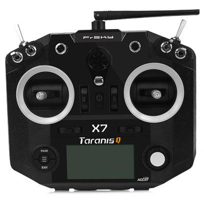 Gearbest FrSky TARANIS Q X7 2.4GHz 7CH Transmitter - BLACK Quad Ball Bearing Gimbals / Flight Data Logging / OpenTX Firmware