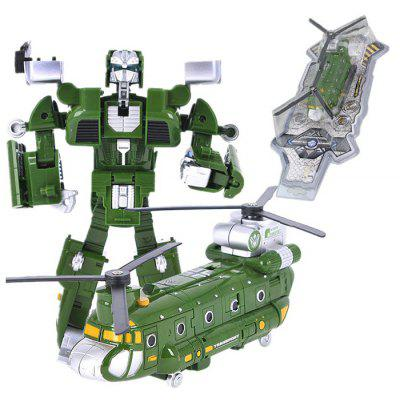 Transformable Transform 3D Alloy Robot Fighter
