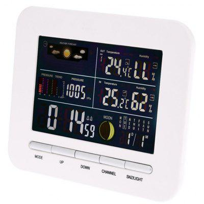 TS - 76 Multi-functional LCD Digital Weather Forecast Thermometer Hygrometer
