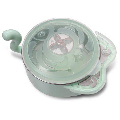 babycare Eco-friendly PP Baby Feeding bowl with Fork Spoon for Toddler