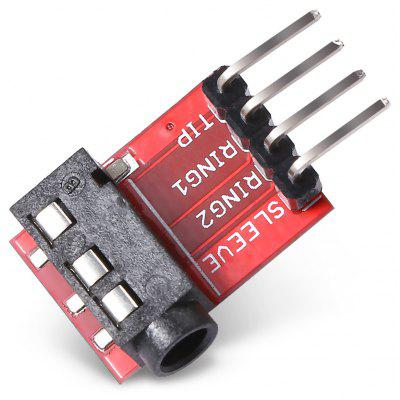 Buy LDTR WG0078 Audio Socket Stereo Sound Module w / Mic RED for $1.47 in GearBest store