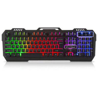Warwolf K - 12 Metal RGB Light Gaming Keyboard