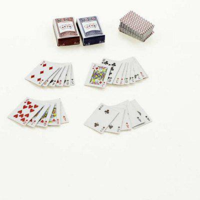 Buy 1:12 Scale Doll House Miniature Playing Card Toy Set COLORMIX for $1.41 in GearBest store