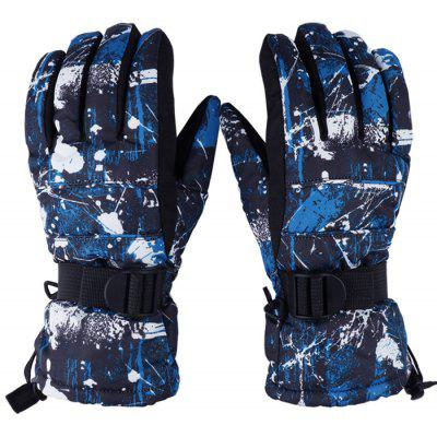 Pair of Unisex Full-finger Windproof Warm-keeping Gloves