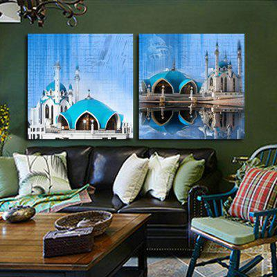 2PCS World Famous Architecture Printing Canvas Wall Decoration