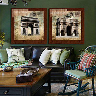 2PCS Triumphal Arch Printing Canvas Wall Decoration