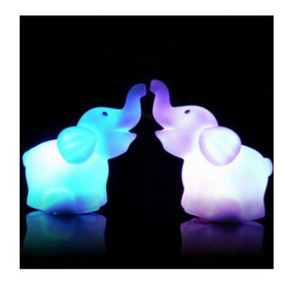 Gearbest LED Cute Elephant Night Lights  -  COLORFUL