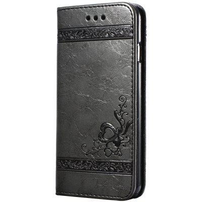 Flower Embossing Wallet Cover