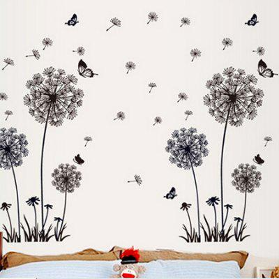Dandelion Butterfly Removable Wall Stickers